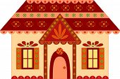 pic of gingerbread house  - isolated brown - JPG