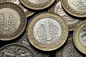 stock photo of lira  - Coins of Turkey - JPG