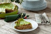 picture of lasagna  - Italian Christmas food  - JPG