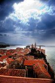 Medieval Town Dramatic Sky poster