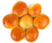 picture of bread rolls  - the freshly baked Bread rolls on white background - JPG