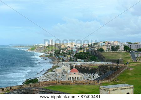 Old San Juan City Skyline, Puerto Rico