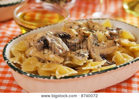Portabello Mushrooms With Pasta