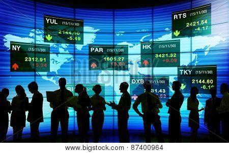 Global Business Communication Stock Exchange Finance Concept