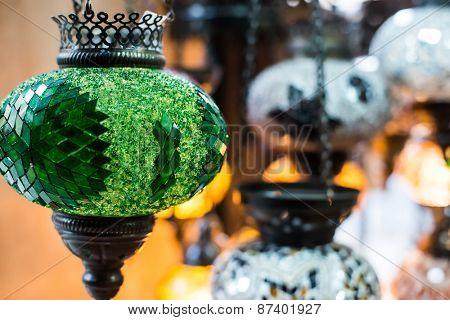 colorful arabic lantern lamp traditional style