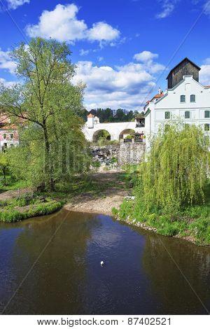 River And Medieval City Of Cesky Krumlov