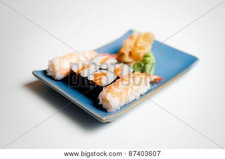 Sushi Plate With Hosomaki And Nigiri