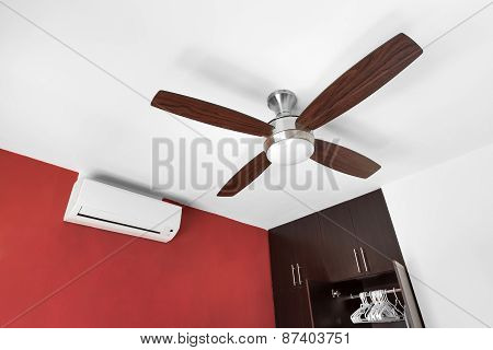 Electric Ceiling Fan And Split-system Air Conditioner