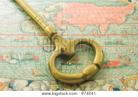 Big Key And Old Map