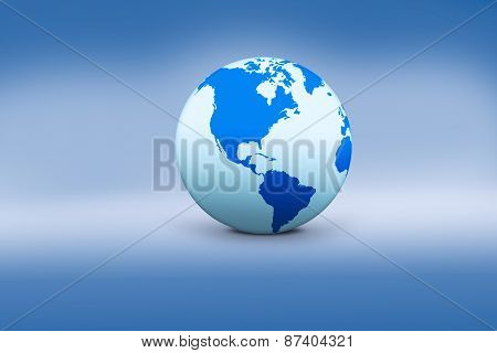 Globe Icon With Blue Background