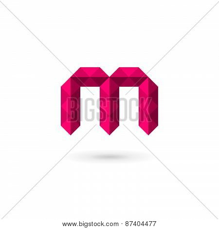 Letter M Mosaic Logo Icon Design Template Elements