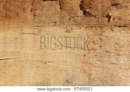 Vintage rotten wood pattern background texture light brown