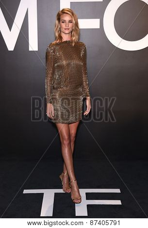 LOS ANGELES - FEB 20:  Rosie Huntington-Whiteley arrives to the Tom Ford Autumn/Winter 2015 Womenswear Collection Presentation  on February 20, 2015 in Hollywood, CA