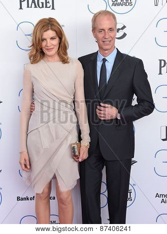 LOS ANGELES - FEB 21:  Rene Russo & Dan Gilroy arrives to the 2015 Film Independent Spirit Awards  on February 21, 2015 in Santa Monica, CA
