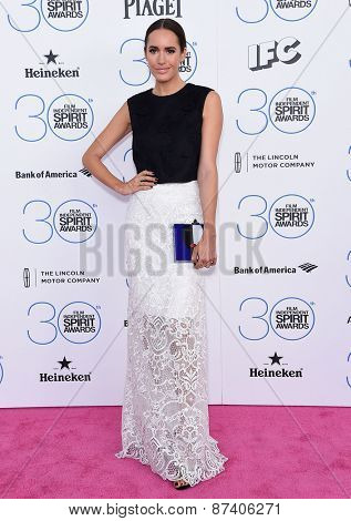 LOS ANGELES - FEB 21:  Louise Roe arrives to the 2015 Film Independent Spirit Awards  on February 21, 2015 in Santa Monica, CA
