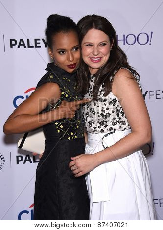 LOS ANGELES - MAR 08:  Kerry Washington & Katie Lowes arrives to the Paleyfest 2015