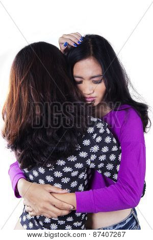 Teen Girl Soothe Her Friend