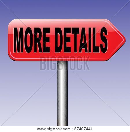 more details detailled info extra information learn more about road sign arrow