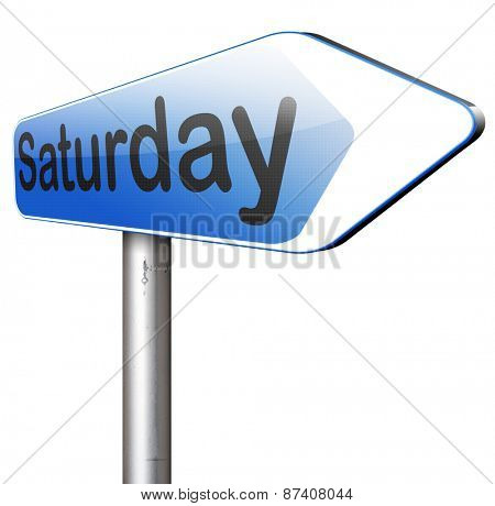 saturday sign event calendar