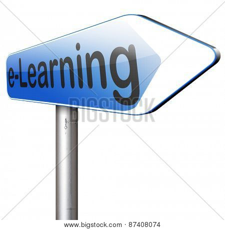 e-learning online course internet education learning in open school or university virtual elearning