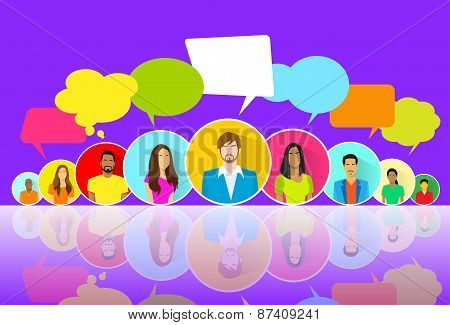 People Group Chat Social Network Communication Icons