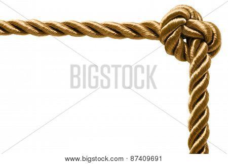 Rope frame isolated on white background