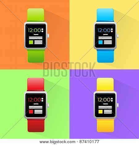 Smart Watch Set New Technology Electronic Device