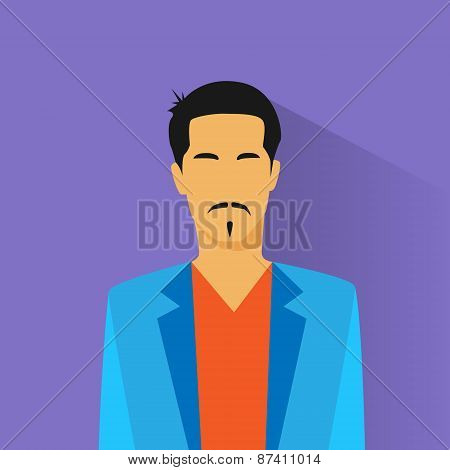 businessman hispanic asia race profile icon male portrait