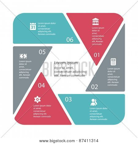 Vector infographic business concept . Template for diagram, graph, presentation and chart