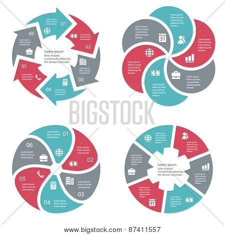 Vector template infographic business concept