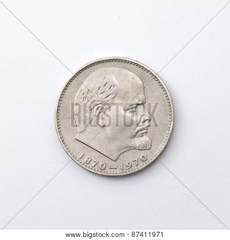 A Soviet Ruble Face Lenin