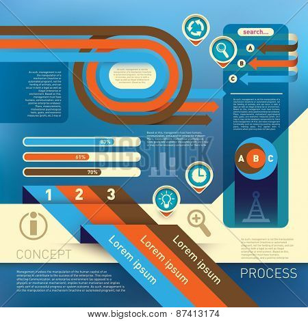Info graphic with modern graphic elements. Vector illustration.