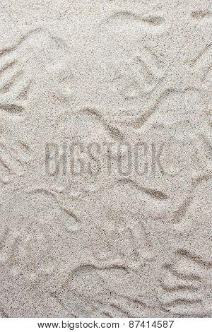 Beach Of Finger Printing