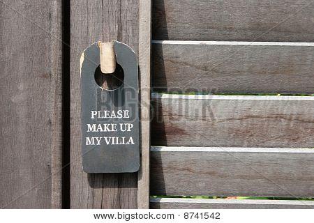 Door Sign.