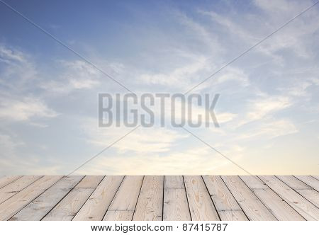Wood And Blue Sky