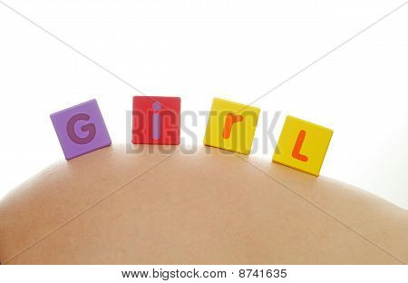Girl Written With Alphabet Cubes
