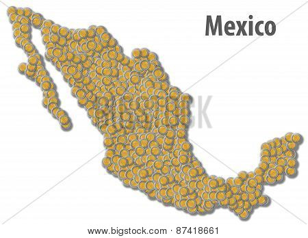 Mexican Peso Map