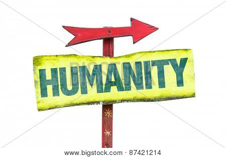 Humanity sign isolated on white