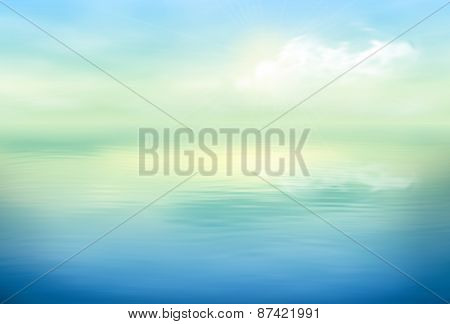 Water Vector Background Calm Clear
