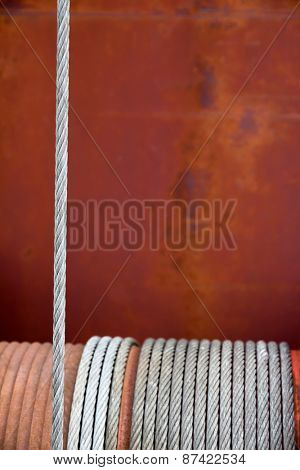 rusty winch, symbol of strength, reliability, help