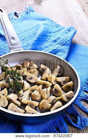 The Mushrooms In The Pan