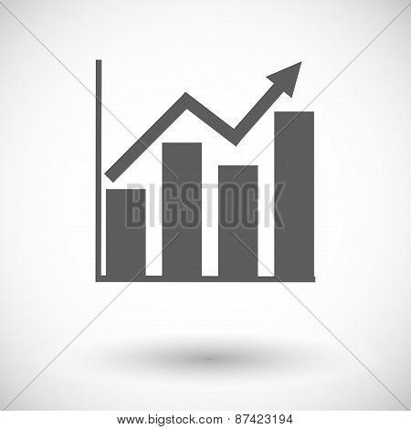 Graph flat single icon.
