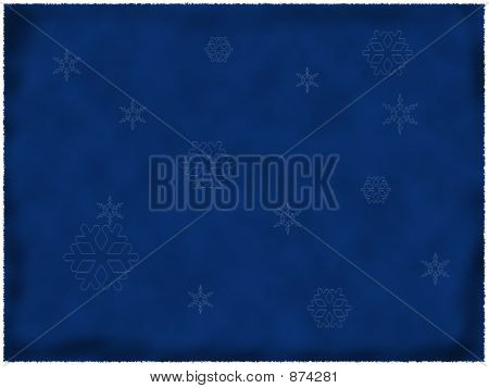 Burnt Blue Paper With Snowflakes