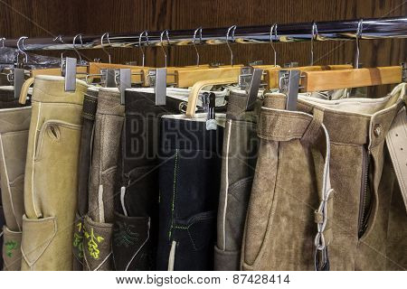 Traditional Bavarian Buckskin Pants