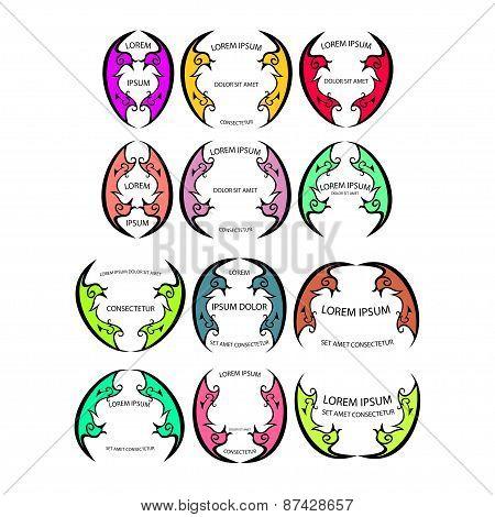 set of colorful logo
