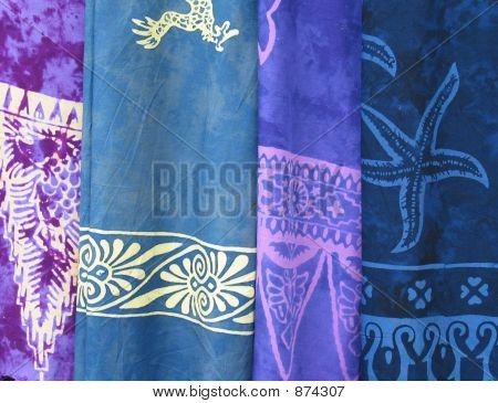 mehrfarbiger Tuch Iii Schattierungen von blau