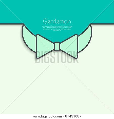 Abstract background with vector bow tie.