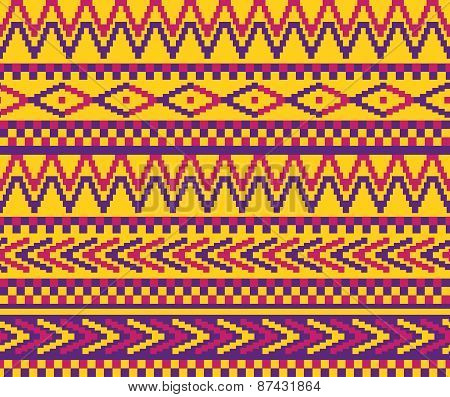 Yellow Pixeled Brazil Pattern