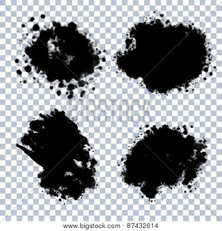 Vector Transparent Blots Set