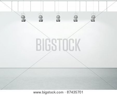 White Wall And Concrete Floor Background